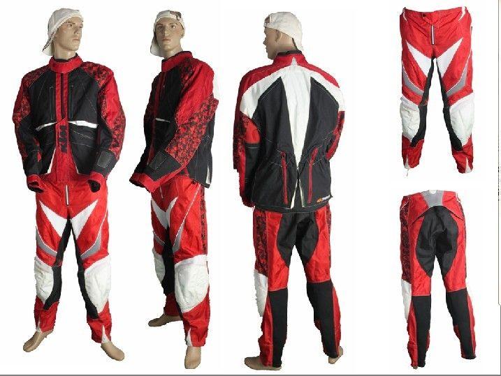 Мотокуртка и мотоштаны KTM (комплект) красный/черный/белый