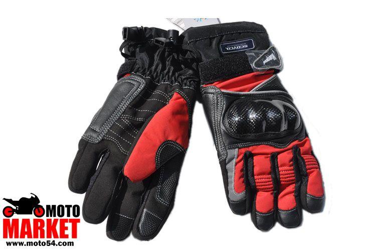 Мотоперчатки Scoyco carbon (утепленные, непромокаемые)