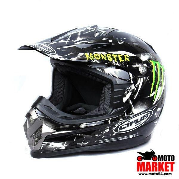 Кроссовый шлем HJC Monster Energy cirus