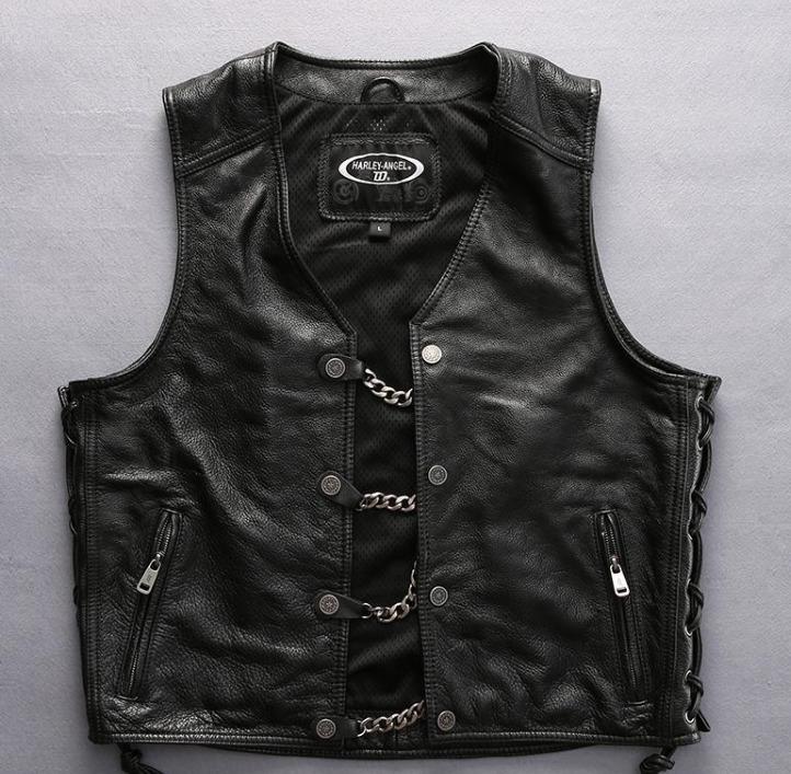 Мотожилет кожаный Harley Angel HA-16
